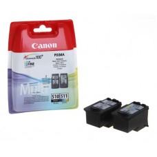PG510/CL511 Tintapatron multipack Pixma MP240 nyomtatóhoz, CANON, fekete, színes, 220+240 oldal