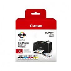 PGI-1500XLKIT Tintapatron multipack Maxify MB2350 nyomtatóhoz, CANON, b+c+m+y, 34ml+3*12ml