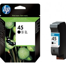 51645AE Tintapatron DeskJet 710c, 720c, 815c nyomtatókhoz, HP 45 fekete, 42ml