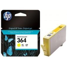 CB320EE Tintapatron Photosmart C5380, C6380, D5460 nyomtatókhoz, HP 364 sárga, 300 oldal