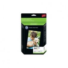 Q7966AE Tintapatron multipack Photosmart 3210, HP 363 b+c+m+y+pc+pm+papír 150ív, 10*15 cm