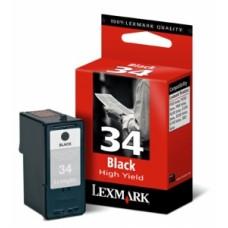 18C0034E Tintapatron P910 sorozat, 4300 sorozat nyomtatókhoz, LEXMARK 34 fekete, 475 oldal