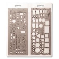 Elektronikai sablon, műanyag, KOH-I-NOOR