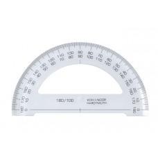 Szögmérő, műanyag, 180 °-os, KOH-I-NOOR