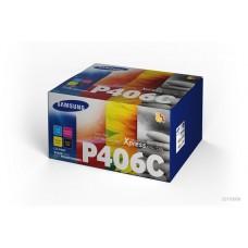 CLT-P406C Lézertoner multipack CLP 365,CLX 3305 nyomtatókhoz, SAMSUNG b+c+m+y, 1*1,5K+3*1K