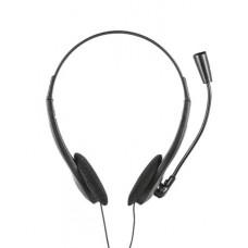 Fejhallgató, mikrofonnal, vezetékes, 3,5 jack, TRUST