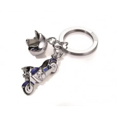 Kulcstartó, 2 charm dísszel, SWAROVSKI® kristályokkal, TROIKA