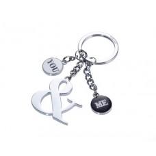 Kulcstartó, 3 charm dísszel, TROIKA,