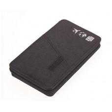 Dokumentumtároló, utazáshoz, RFID védelemmel, golyóstollal, TROIKA