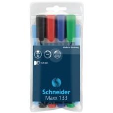 Alkoholos marker készlet, 1-4 mm, vágott, SCHNEIDER