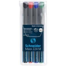 Alkoholos marker készlet, OHP, 1 mm, SCHNEIDER