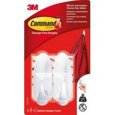 Műanyag akasztó ragasztócsíkkal, ovális, M, 3M SCOTCH