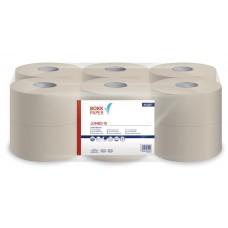Toalettpapír, 1 rétegű, 125 m, 19 cm átmérő,