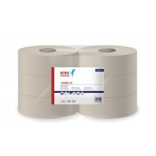 Toalettpapír, 1 rétegű, nagytekercses, 23 cm átmérő, törtfehér