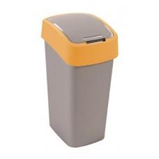 Billenős szelektív hulladékgyűjtő, műanyag, 50 l, CURVER, sárga/szürke