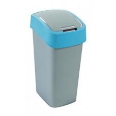 Billenős szelektív hulladékgyűjtő, műanyag, 50 l, CURVER, kék/szürke