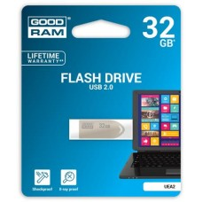 Pendrive, 32GB, USB 2.0, 20/5 MB/sec, fém ház, GOODRAM