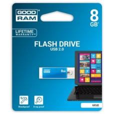 Pendrive, 8GB, USB 2.0, 20/5 MB/sec, fémház, GOODRAM