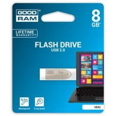 Pendrive, 8GB, USB 2.0, 20/5 MB/sec, fém ház, GOODRAM