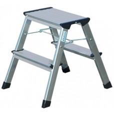 Fellépő, gurítható lépcsőfokos, 2x2 lépcsőfok, alumínium KRAUSE