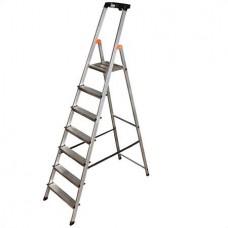 Állólétra, 7 lépcsőfokos, alumínium, KRAUSE