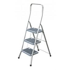 Fellépő, 3 lépcsőfokos, alumínium, KRAUSE