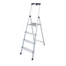 Állólétra, 4 lépcsőfokos, alumínium, KRAUSE