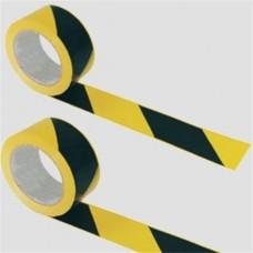 Jelzőszalag, 200 méter, 7 cm széles, sárga -fekete