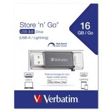 Pendrive, 16GB, USB 3.0, Lightning csatlakozó, VERBATIM
