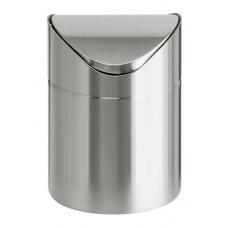 Billenős szemetes, 2 l, rozsdamentes acél, asztali, VEPA BINS, ezüst