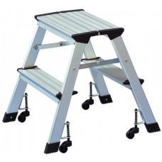 Fellépő, gurítható,  2x2 lépcsőfok, alumínium, WEDO