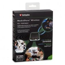 Vezeték nélküli USB és memóriakártya olvasó, hordozható akkumulátor, VERBATIM