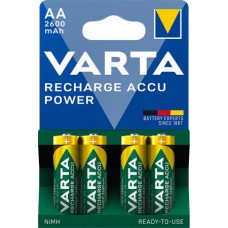 Tölthető elem, AA ceruza, 4x2600 mAh, előtöltött, VARTA