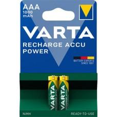 Tölthető elem, AAA mikro, 2x1000 mAh, előtöltött, VARTA