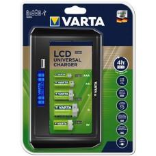 Elemtöltő, LCD kijlező, univerzális, AA/AAA/C/D/9V, VARTA