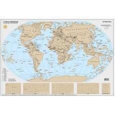 Kaparós Föld országai térkép, 84x57 cm, STIEFEL