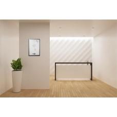Üzenőtábla, ezüst,  mágneses, 60x40 cm, fekete keret,  VICTORIA,