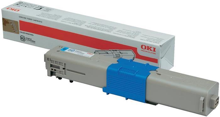 44973535 Lézertoner C301, 321 nyomtatókhoz, OKI kék, 1,5k